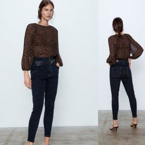NWT Zara Animal Print Blouse